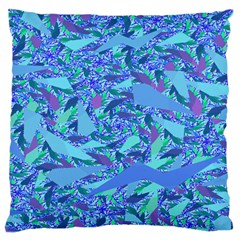Blue Confetti Storm Large Cushion Case (two Sided)