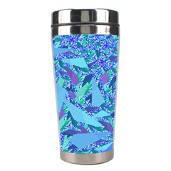 Blue Confetti Storm Stainless Steel Travel Tumbler by KirstenStar