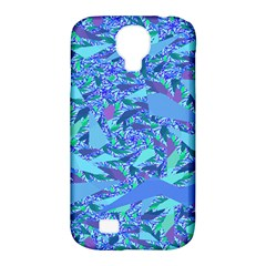 Blue Confetti Storm Samsung Galaxy S4 Classic Hardshell Case (pc+silicone)