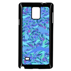 Blue Confetti Storm Samsung Galaxy Note 4 Case (black)