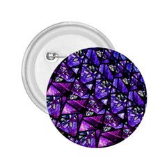 Blue Purple Glass 2 25  Button