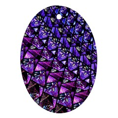 Blue Purple Glass Oval Ornament by KirstenStar