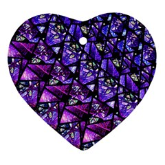 Blue Purple Glass Heart Ornament by KirstenStar