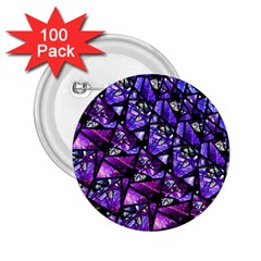 Blue Purple Glass 2 25  Button (100 Pack)