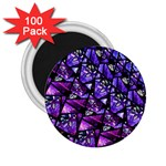 Blue purple Glass 2.25  Button Magnet (100 pack) Front
