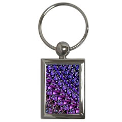 Blue Purple Glass Key Chain (rectangle) by KirstenStar