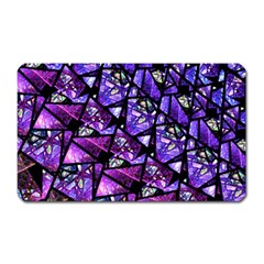 Blue Purple Glass Magnet (rectangular) by KirstenStar