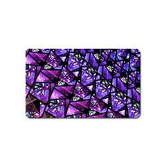 Blue Purple Glass Magnet (name Card)