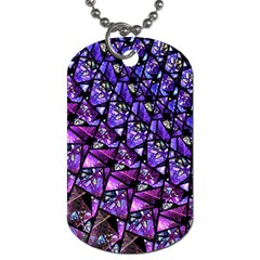 Blue Purple Glass Dog Tag (two Sided)