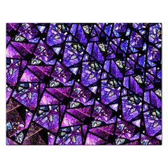 Blue Purple Glass Jigsaw Puzzle (rectangle)