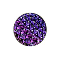 Blue Purple Glass Golf Ball Marker (for Hat Clip) by KirstenStar