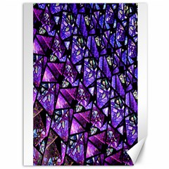 Blue Purple Glass Canvas 36  X 48  (unframed) by KirstenStar