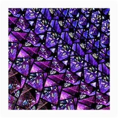 Blue Purple Glass Glasses Cloth (medium) by KirstenStar