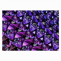 Blue Purple Glass Glasses Cloth (large, Two Sided) by KirstenStar