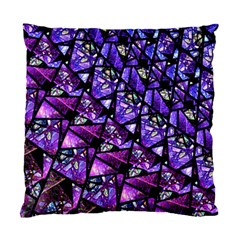 Blue Purple Glass Cushion Case (two Sided)  by KirstenStar