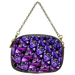 Blue Purple Glass Chain Purse (two Sided)