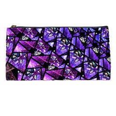 Blue Purple Glass Pencil Case by KirstenStar