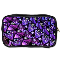 Blue Purple Glass Travel Toiletry Bag (one Side) by KirstenStar