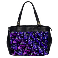 Blue Purple Glass Oversize Office Handbag (one Side) by KirstenStar