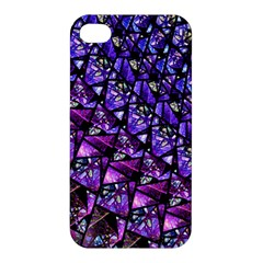 Blue Purple Glass Apple Iphone 4/4s Premium Hardshell Case by KirstenStar