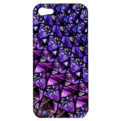 Blue Purple Glass Apple Iphone 5 Hardshell Case by KirstenStar