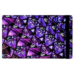 Blue Purple Glass Apple Ipad 3/4 Flip Case