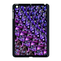Blue Purple Glass Apple Ipad Mini Case (black)
