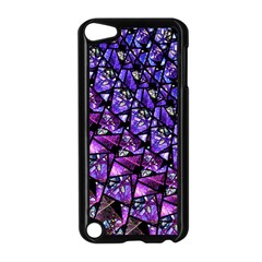 Blue Purple Glass Apple Ipod Touch 5 Case (black)