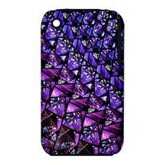 Blue Purple Glass Apple Iphone 3g/3gs Hardshell Case (pc+silicone) by KirstenStar