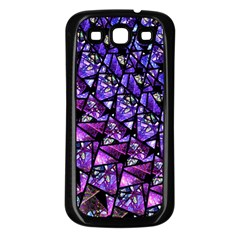 Blue Purple Glass Samsung Galaxy S3 Back Case (black) by KirstenStar
