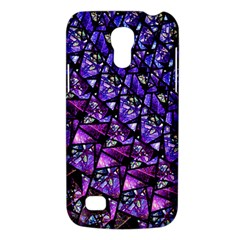 Blue Purple Glass Samsung Galaxy S4 Mini (gt I9190) Hardshell Case  by KirstenStar