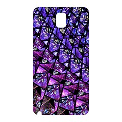 Blue Purple Glass Samsung Galaxy Note 3 N9005 Hardshell Back Case by KirstenStar