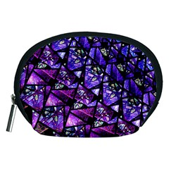 Blue Purple Glass Accessory Pouch (medium) by KirstenStar