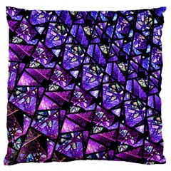 Blue Purple Glass Standard Flano Cushion Case (one Side) by KirstenStar