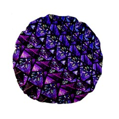 Blue Purple Glass Standard 15  Premium Flano Round Cushion  by KirstenStar