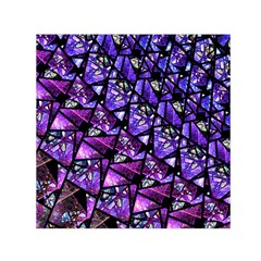 Blue Purple Glass Small Satin Scarf (square) by KirstenStar