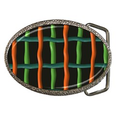 Orange Green Wires Belt Buckle