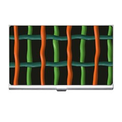Orange Green Wires Business Card Holder by LalyLauraFLM