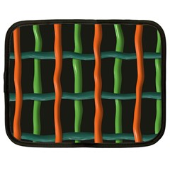 Orange Green Wires Netbook Case (large)	 by LalyLauraFLM
