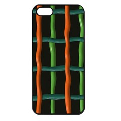 Orange Green Wires Apple Iphone 5 Seamless Case (black) by LalyLauraFLM