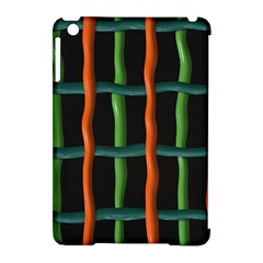 Orange Green Wires Apple Ipad Mini Hardshell Case (compatible With Smart Cover) by LalyLauraFLM