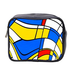Colorful Distorted Shapes Mini Toiletries Bag (two Sides)