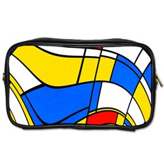 Colorful Distorted Shapes Toiletries Bag (two Sides) by LalyLauraFLM