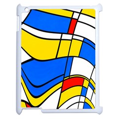 Colorful Distorted Shapes Apple Ipad 2 Case (white) by LalyLauraFLM