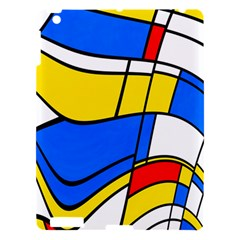 Colorful Distorted Shapes Apple Ipad 3/4 Hardshell Case by LalyLauraFLM