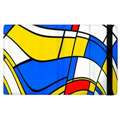 Colorful Distorted Shapes Apple Ipad 2 Flip Case by LalyLauraFLM