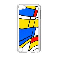 Colorful Distorted Shapes Apple Ipod Touch 5 Case (white) by LalyLauraFLM