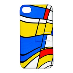 Colorful Distorted Shapes Apple Iphone 4/4s Hardshell Case With Stand by LalyLauraFLM