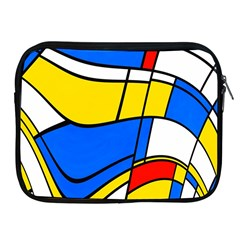 Colorful Distorted Shapes Apple Ipad 2/3/4 Zipper Case by LalyLauraFLM