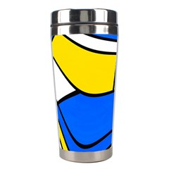 Colorful Distorted Shapes Stainless Steel Travel Tumbler by LalyLauraFLM